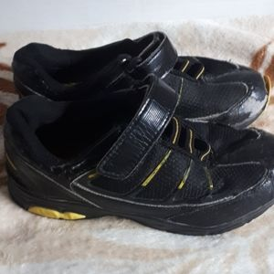 Boys Black and Yellow Running Shoes